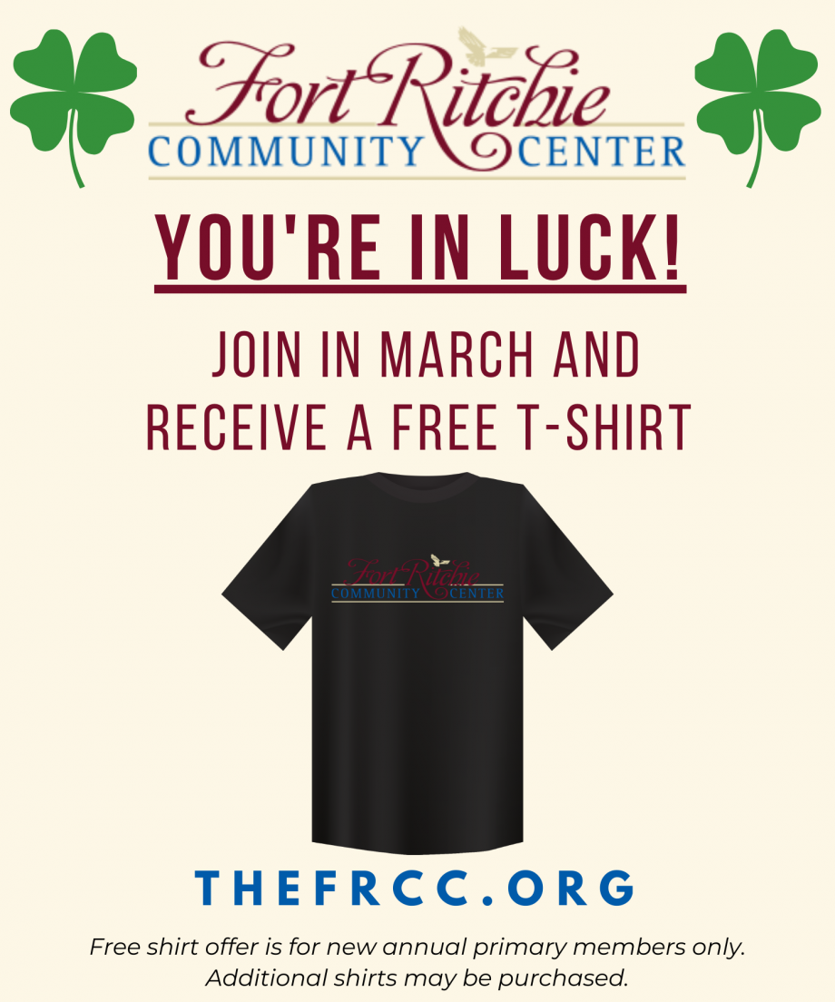 You're in Luck! New members get a free t-shirt in March!