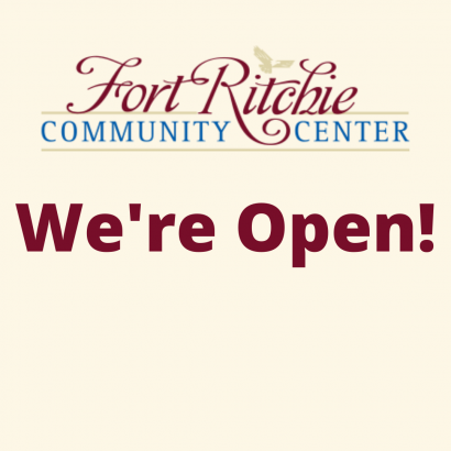 Fort Ritchie Community Center We're Open!